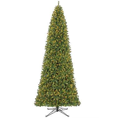 12' King Slim Prelit Christmas Tree