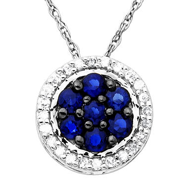 .25 ct. t.w. Sapphire and Diamond Pendant