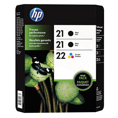 HP 21-21-22 - Black/Color Combo pack