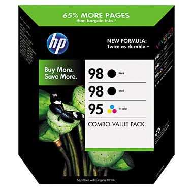 HP 98/95 Ink Cartridge Tri Pack - Black/Tri-Color (CB312BN)