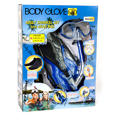 Adult Snorkel Set with Gear Bag