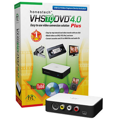 Honestech™ VHS to DVD Converter 4.0 Plus