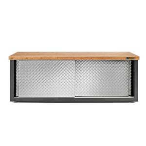 Gladiator RTA Steel Garage Storage Bench with Bamboo Top