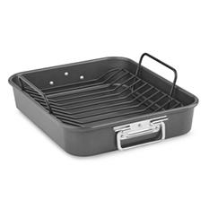 "KitchenAid 16"" Aluminized Steel Nonstick Roaster with Rack"