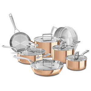 KitchenAid Tri-Ply Copper 12-Piece Cookware Set