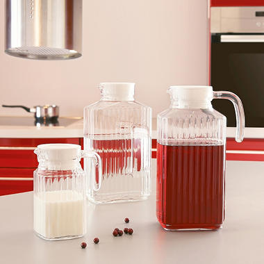 Luminarc Quadro 3 pc. Jug Set With White Lids