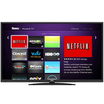 "50"" RCA LED HDTV with Built-In ROKU Streaming Stick"