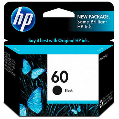 HP 60 Ink Cartridge - Black, 200 Page Yield