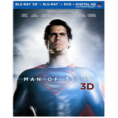 Man Of Steel (3D Blu-ray + Blu-ray + DVD + UltraViolet) (Widescreen)