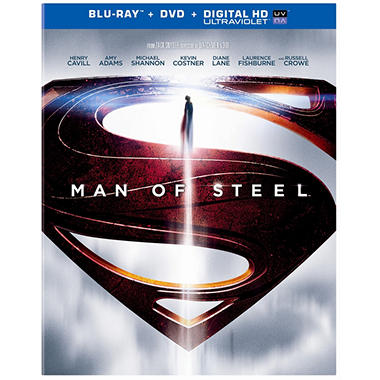 Man Of Steel (Blu-ray + DVD + UltraViolet) (Widescreen)