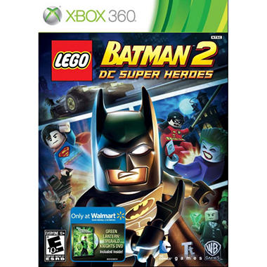 LEGO Batman 2: DC Super Heroes w/ Walmart Exclusive Green Lantern Emerald Knights DVD - Xbox 360
