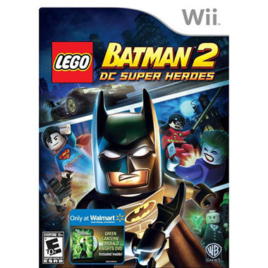 LEGO Batman 2: DC Super Heroes w/ Walmart Exclusive Green Lantern Emerald Knights DVD - Wii
