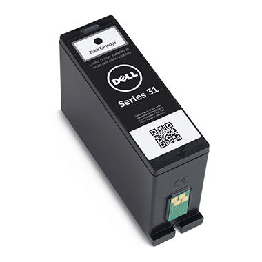 Single Use Black Ink Cartridge for Dell V525w/ V725w All-in-One Wireless Inkjet Printer (Series 31)
