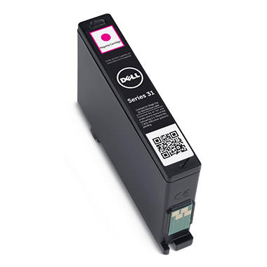 Single Use Magenta Ink Cartridge for Dell V525w/ V725w All-in-One Wireless Inkjet Printer (Series 31)