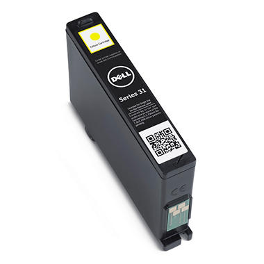 Single Use Yellow Ink Cartridge for Dell V525w/ V725w All-in-One Wireless Inkjet Printer (Series 31)