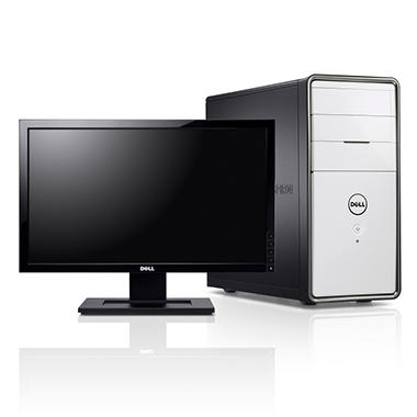 "Dell Inspiron 620 Desktop Intel Core i3-2100, 500GB, 20"" - White"