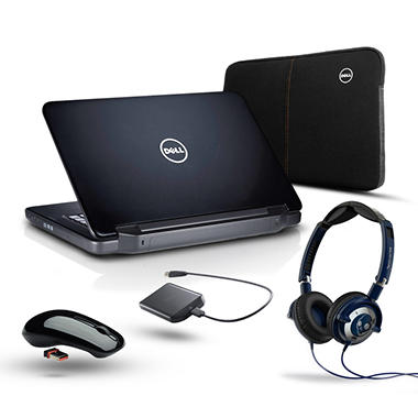 Dell N5050 Laptop, Intel Core i3-2370M Bundle - Preloaded Office Home & Student 2010