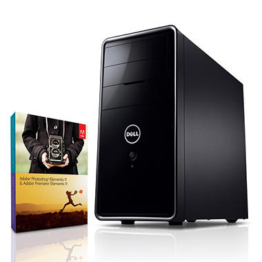 Dell Inspiron 660 Desktop Computer, Intel Core i5-3340, 12GB Memory, 1TB Hard Drive