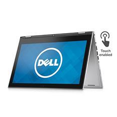 "Dell 13.3"" 2-in-1 Touchscreen Notebook, I7359-5984SLV, Intel Core i7-6500U, 8 GB Memory, 500 GB Hard Drive. 8GB SSD, Windows 10"