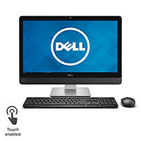 "Dell Inspiron Truelife LED IPS Touchscreen 24"" All-in-One Desktop, Intel Core i7-6700 Processor, 12GB Memory, 1TB Hard Drive, Intel HD Graphics, Wireless Keyboard and Mouse, Windows 10 Home"