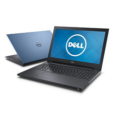 "Dell 15.6"" Notebook, Intel Core i3-4005U, 4GB Memory, 500 GB Hard Drive, with Windows 10 - Various colors: Blue, Red , Black"