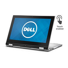 "Dell 2-in-1 Touchscreen Convertible 11.6"" Notebook, I3000-101SLV, Intel Celeron N3050, 2GB Memory, 32GB Hard Drive, with Windows 10"