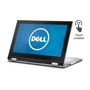 "Dell Inspiron 2-in-1 Touchscreen Convertible 11.6"" Notebook, I3000-101SLV, Intel Celeron N3050, 2GB Memory, 32GB eMMC SSD, with Windows 10"