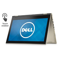 "Dell 2-in-1 Convertible Full HD Touchscreen 13.3"" Notebook, Intel Core i3-6100u Processor, 4GB Memory, 1TB Hard Drive, Windows 10, Available in:  Red, Silver, Gold"