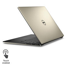 "Dell XPS 13"" Touchscreen Laptop, XPS9350-5342GLD, i7-6560U, 8GB Memory, 256SSD Hard Drive, with Windows 10, Gold"
