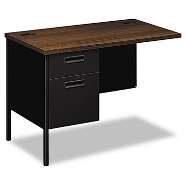 HON - Metro Classic Series Workstation Return - Left - Columbian Walnut/Black