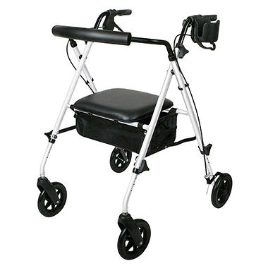 Luxe Rollator with Extra-Wide Seat