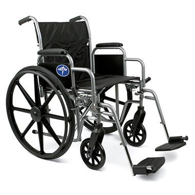 Height Adjustable Lightweight Wheelchair - 25.5