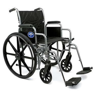 "Height Adjustable Lightweight Wheelchair - 25.5""W Rim to Rim"