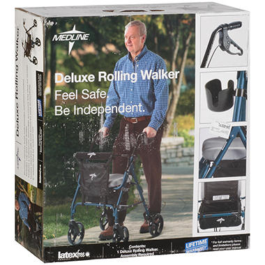 Medline Deluxe Rolling Walker