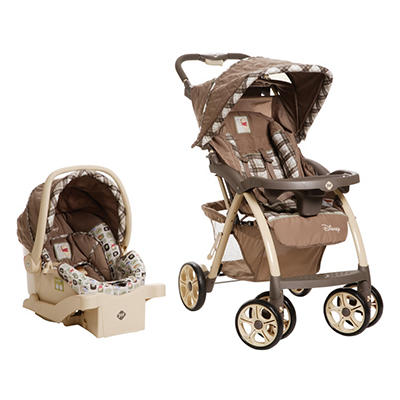Disney Saunter Luxe Travel System, Sweet Sihouettes