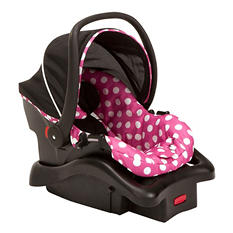 Disney Baby Minnie Mouse Light'n Comfy Luxe Infant Car Seat, Minnie Dot