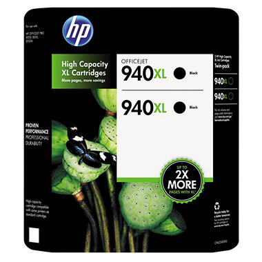 HP 940XL Black Ink Combo Pack (CH633BN)