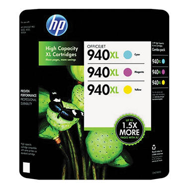 HP 940XL Color Combo Pack (CH637BN)