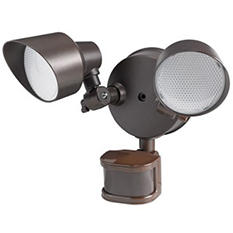 Honeywell Bronze LED 2-Step PIR Floodlight
