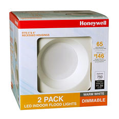 "Honeywell 5""/6"" Non-Adjustable LED Indoor Down Light Set - 2pk"