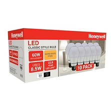 Honeywell 8.5 Watt A19 LED Bulb Set (10 pack)