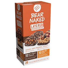 Bear Naked Layered Granola Bars, Variety Pack (2 oz. bars, 20 pk.)