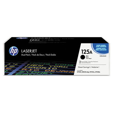 HP 125A Original Laser Jet Toner Cartridge, Black (2 pk., 2,200 Page Yield)