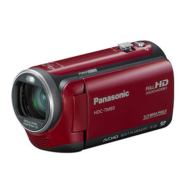 Panasonic HDC-TM80 HD Camcorder - Red