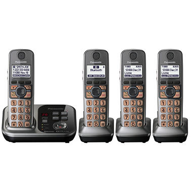 Panasonic DECT 6.0 Plus Link to Cell via Bluetooth w/ 4 Handsets