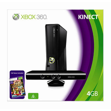 Xbox 360 4GB Console with Kinect Bundle