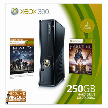 Xbox 360 250GB Holiday Console Bundle