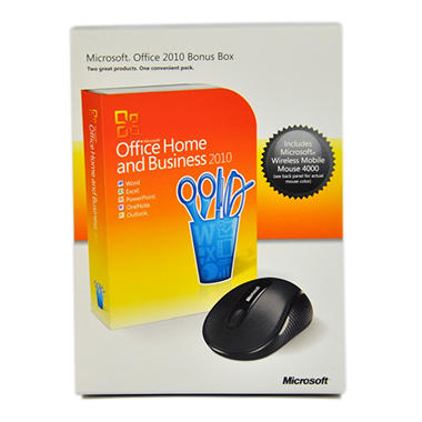 Microsoft Office Home and Business 2010 with bonus Mouse