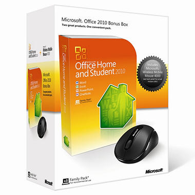 Microsoft Office Home and Student 2010 with bonus Mouse