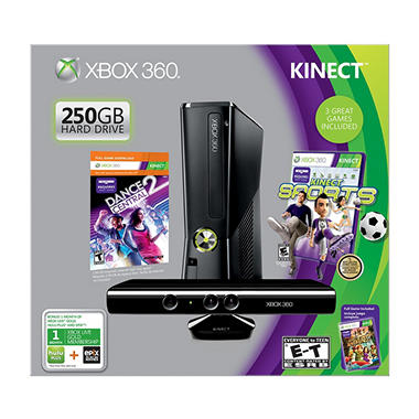 Xbox 360 250GB Kinect Holiday Value Bundle